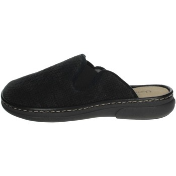 Schuhe Herren Pantoffel Uomodue MICRO PUNTATO-31 Schwarz