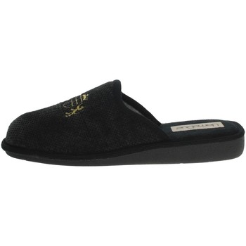 Schuhe Herren Hausschuhe Uomodue LORD-4 Schwarz/Grau