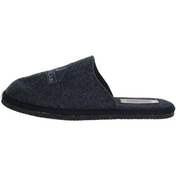 Schuhe Herren Pantoffel Uomodue LOGO-12 Blau