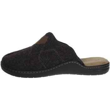 Schuhe Herren Pantoffel Uomodue ALCANTA-3 Braun