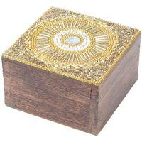 Home Koffer, Aufbewahrungsboxen Signes Grimalt Quadratische Box Schmuckschatulle Dorado