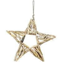 Home Weihnachtsdekorationen Signes Grimalt Stern Mit Holz Dorado