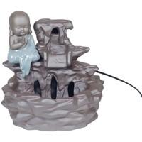 Home Statuetten und Figuren Signes Grimalt Buddha-Brunnen Aus Keramik Gris