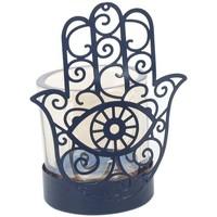 Home Kerzenhalter, Kerzengläser Signes Grimalt Fatima Hand Kerzenständer Lila