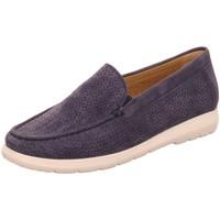 Schuhe Damen Slipper Sioux Slipper 64901 blau