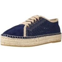 Schuhe Damen Leinen-Pantoletten mit gefloch Toni Pons FEDRA BQ Blau
