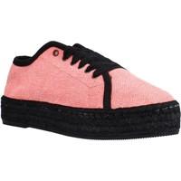 Schuhe Damen Leinen-Pantoletten mit gefloch Toni Pons FEDRA FR Rosa