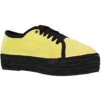 Schuhe Damen Leinen-Pantoletten mit gefloch Toni Pons FEDRA FR Gelb