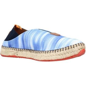 Schuhe Damen Leinen-Pantoletten mit gefloch Toni Pons I44IB Blau