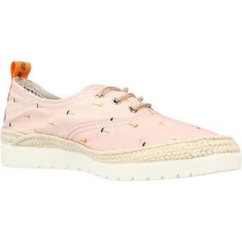 Schuhe Damen Leinen-Pantoletten mit gefloch Toni Pons BEGO VE Rosa
