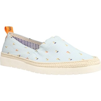 Schuhe Damen Leinen-Pantoletten mit gefloch Toni Pons BRUNA VE Blau