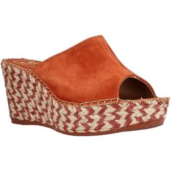 Schuhe Damen Leinen-Pantoletten mit gefloch Toni Pons LUCY A Orange