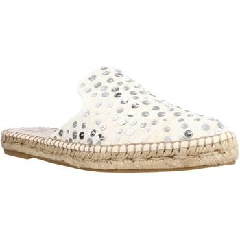 Schuhe Damen Leinen-Pantoletten mit gefloch Toni Pons ONA LR Beige