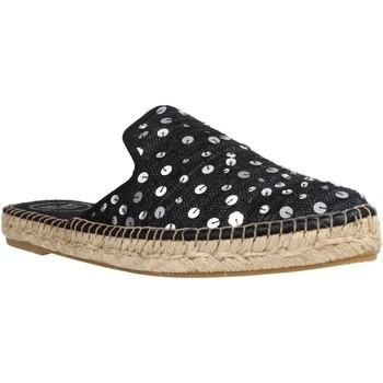 Schuhe Damen Leinen-Pantoletten mit gefloch Toni Pons ONA LR Schwarz