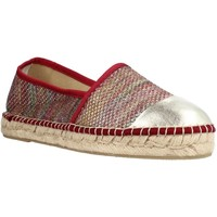Schuhe Damen Leinen-Pantoletten mit gefloch Toni Pons RONDA S Rot