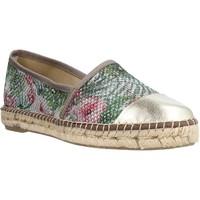 Schuhe Damen Leinen-Pantoletten mit gefloch Toni Pons RONDA S Gold