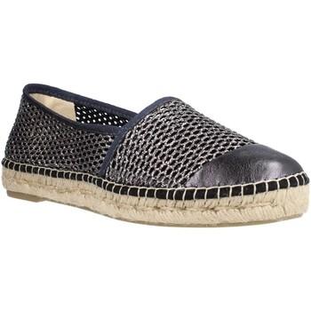Schuhe Damen Leinen-Pantoletten mit gefloch Toni Pons RONDA ZY Blau