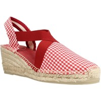 Schuhe Damen Leinen-Pantoletten mit gefloch Toni Pons TERRA VH Rot