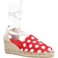 Schuhe Damen Leinen-Pantoletten mit gefloch Toni Pons VEIRA TO Rot