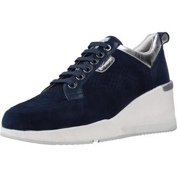Schuhe Damen Sneaker Low Stonefly ELLA 3 VELOUR/NAPPA Blau