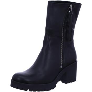 Schuhe Damen Low Boots Online Shoes Stiefeletten Schlupfstiefel Stiefel Boots Schwarz Neu F-8242 schwarz