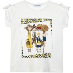 Kleidung Mädchen T-Shirts Mayoral  Blanco