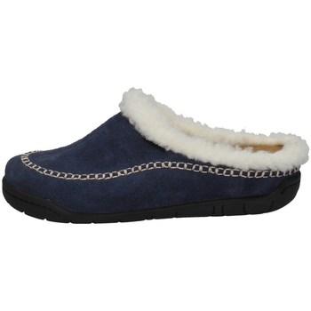 Schuhe Damen Hausschuhe Florance C50506-3 BLAU