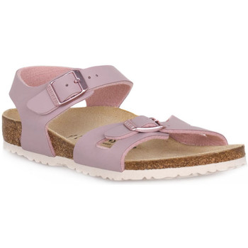 Schuhe Kinder Sandalen / Sandaletten Birkenstock RIO LAVENDER BLUSH CALZ S Grigio