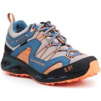 Schuhe Herren Wanderschuhe Garmont Trekkingschuhe  9.81 Trail Pro III GTX 481221-211 blau, orange, grau