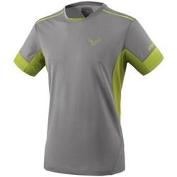 Kleidung Herren T-Shirts Dynafit Vertical 2 M SS Grau, Seladongrün
