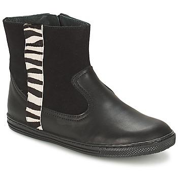 Schuhe Mädchen Boots Citrouille et Compagnie ELLIA Schwarz