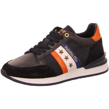 Schuhe Herren Sneaker Low Pantofola D` Oro Schnuerschuhe Ascoli Runner N Neon Uomo Low 10211028-29Y schwarz