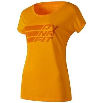 Kleidung Damen T-Shirts Dynafit Compound Dri Rel CO W SS Orangefarbig