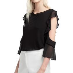 Kleidung Damen Tops / Blusen French Connection 76HXJ1 Schwarz