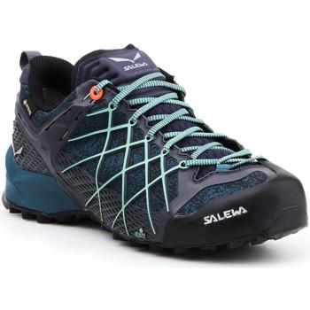 Schuhe Damen Wanderschuhe Salewa Trekking Schuhe  Wildfire GTX 63488-3838 dunkelblau, blau, schwarz