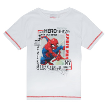 Kleidung Jungen T-Shirts TEAM HEROES  SPIDERMAN TEE Weiss