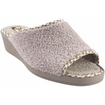 Schuhe Damen Hausschuhe Andinas Geh nach Hause zu Frau  9162-26 beige Weiss
