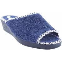 Schuhe Damen Hausschuhe Andinas Geh nach Hause Frau  9162-26 blau Blau