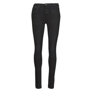 Kleidung Damen Slim Fit Jeans Only ONLPAOLA Schwarz