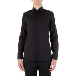 Kleidung Herren Langärmelige Hemden Manuel Ritz 3030E651-213229 Schwarz