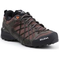 Schuhe Herren Wanderschuhe Salewa Trekking Schuhe  MS Wildfire GTX 63487-7623 braun, schwarz