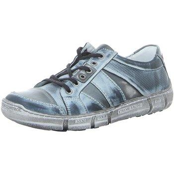 Schuhe Herren Sneaker Low Krisbut Schnuerschuhe 5410-3-1 blau