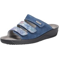 Schuhe Damen Pantoletten Rohde Damen Hausschuhe blau