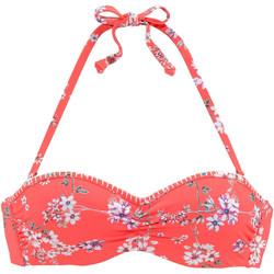 Kleidung Damen Bikini Ober- und Unterteile Lascana Ditsy  Bügelbandeau-Badeanzug Top Hautange