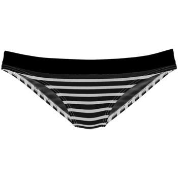 Kleidung Damen Bikini Ober- und Unterteile Lascana Sommer  Badeanzug-Slips Perlschwarz-weiß