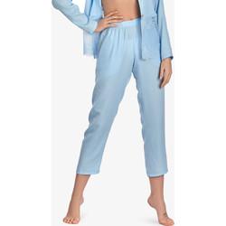 Kleidung Damen Pyjamas/ Nachthemden Ajour 7-8 Vergissmeinnicht-Pyjamahose Himmelblau Blau Ciel