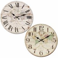 Home Uhren Signes Grimalt 34Cm Weltzeituhr Set 2 U Blanco