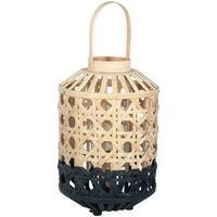 Home Tischlampen Signes Grimalt Kleine Natürliche Bambuslaterne Negro