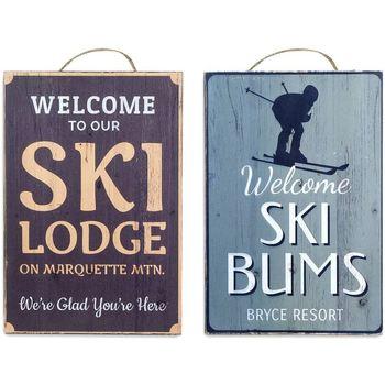 Home Gemälde, Leinwände Signes Grimalt Skiwandplatte Set 2 U Multicolor