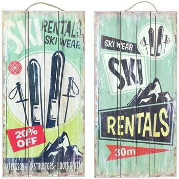 Home Gemälde, Leinwände Signes Grimalt Wandplatte Set 2 Einheiten Multicolor